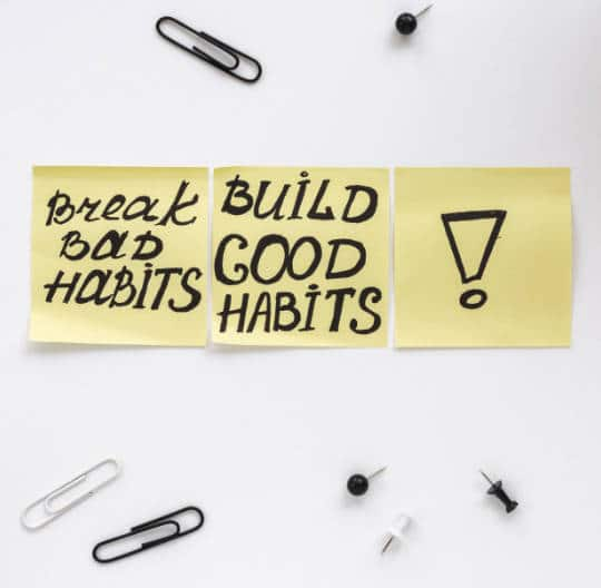 Break bad habits and build good one for positivity in life