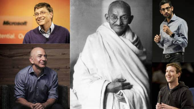 Greatest personalities of all the times living a simple life with simple dress code