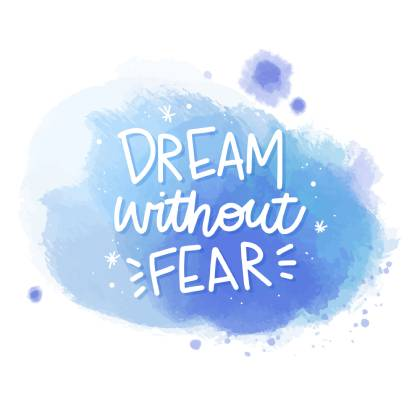 The first key to success is dream more