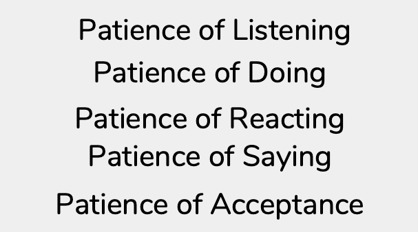 Types of patience