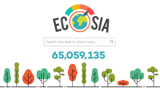Search with eco friendly search engines to make the world a better place